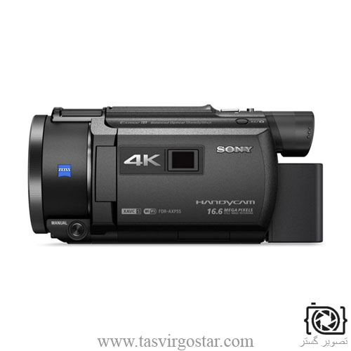 دوربین هندی کم Sony 64GB FDR-AXP55 4K Handycam with Built-In Projector