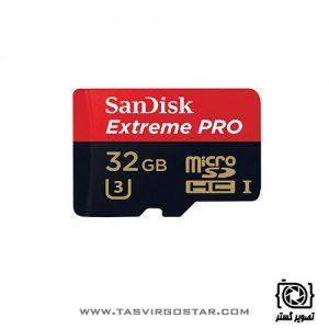 کارت حافظه SanDisk 32GB Extreme Pro UHS-I U3 microSDHC