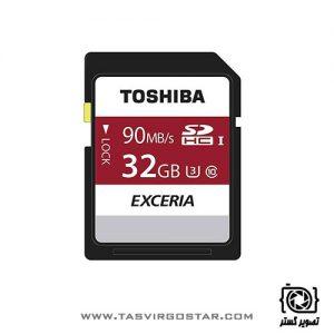 کارت حافظه SDHC توشیبا Exceria N302 32GB UHS-I U3 Class 10