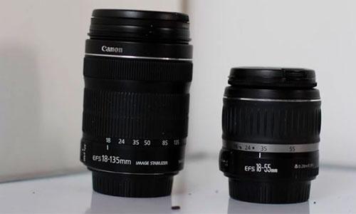 تفاوت لنز کانن 55-18 با 135-18