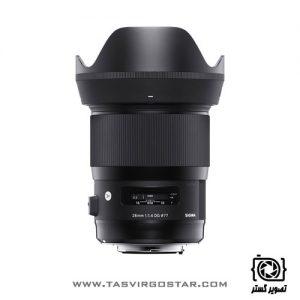 لنز سیگما Sigma 28mm f/1.4 DG HSM Art Canon Mount