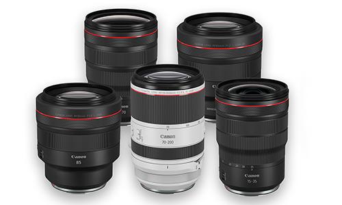 6 لنز سری RF کانن معرفی شد